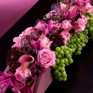 Bloemstuk Begrafenis Paars Roze