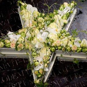 Bloemstuk Begrafenis Ster Wit